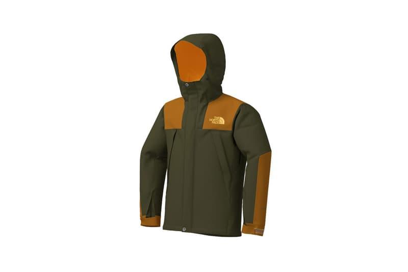 the north face japan 141 customs program outerwear jackets olive green orange hood