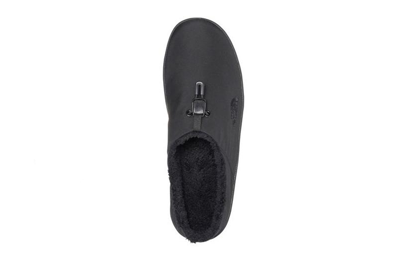 the north face tnf nomad clog fleece lined black warm winter slippers details top upper
