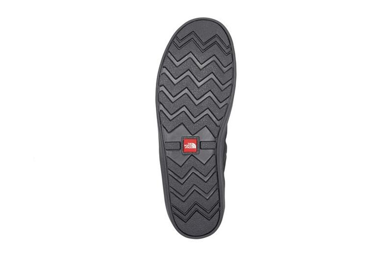 the north face tnf nomad clog fleece lined black warm winter slippers details outsole
