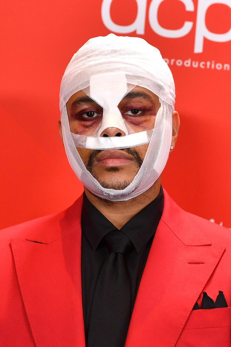 The Weeknd Face Bandages American Music Awards AMAs 2020 Red Carpet
