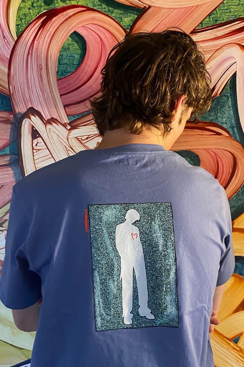 troye sivan uniqlo ut t shirts tees collaboration blue back