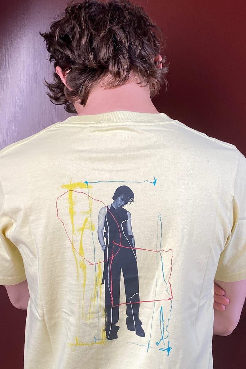 troye sivan uniqlo ut t shirts tees collaboration pastel yellow back
