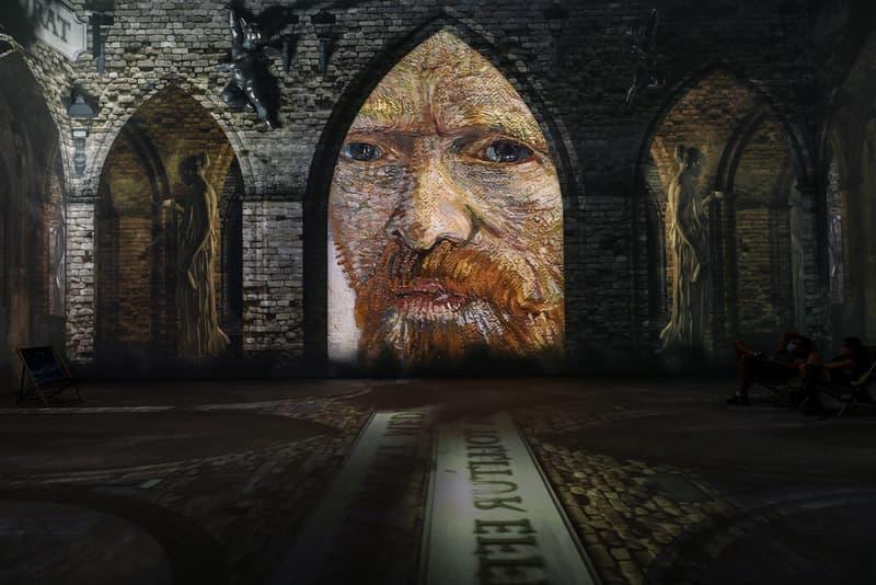 vincent van gogh the immersive digital art experience new york city nyc self portrait