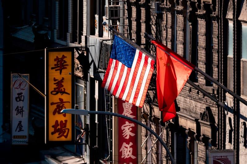 Chinese American Flag Chinatown New York City