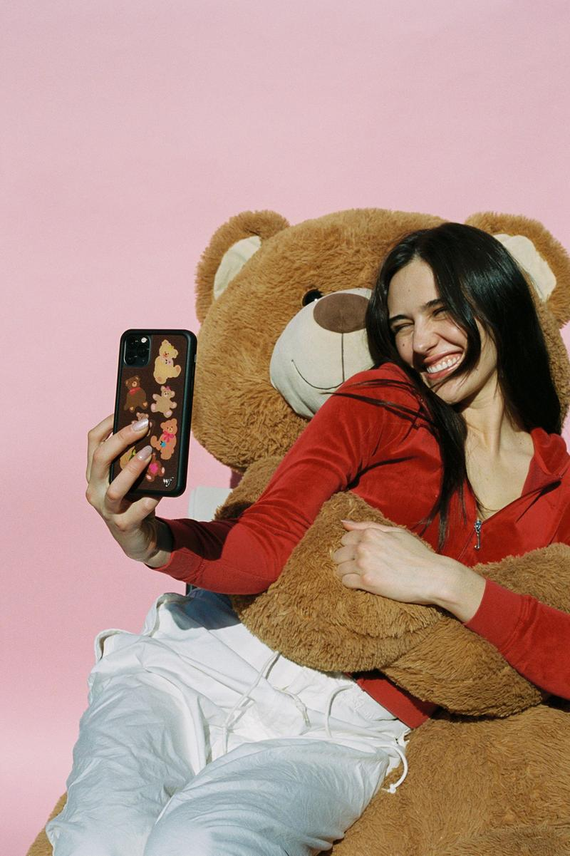 Wildflower Cases Bear-y Cute iPhone Cases Devon Lee Carlson Valentine's Day Teddy Bear Phone Lookbook Campaign
