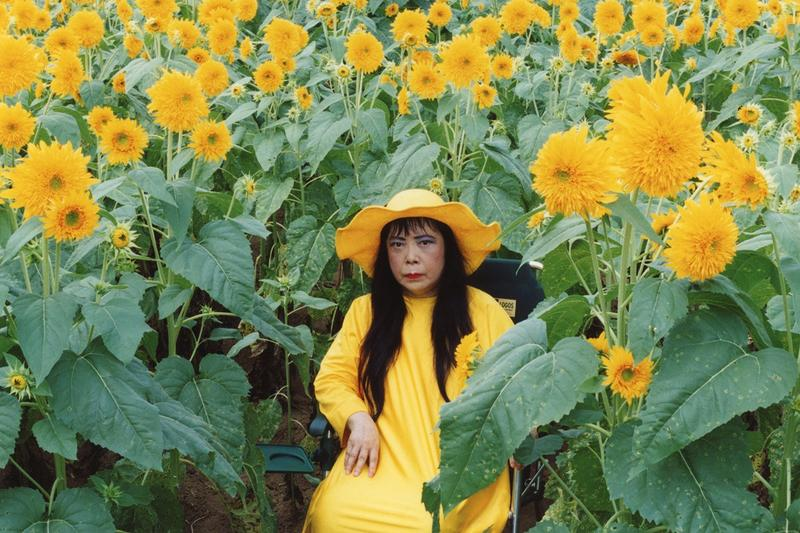 yayoi kusama new york botanical garden exhibition 2021 schedule sunflowers yellow