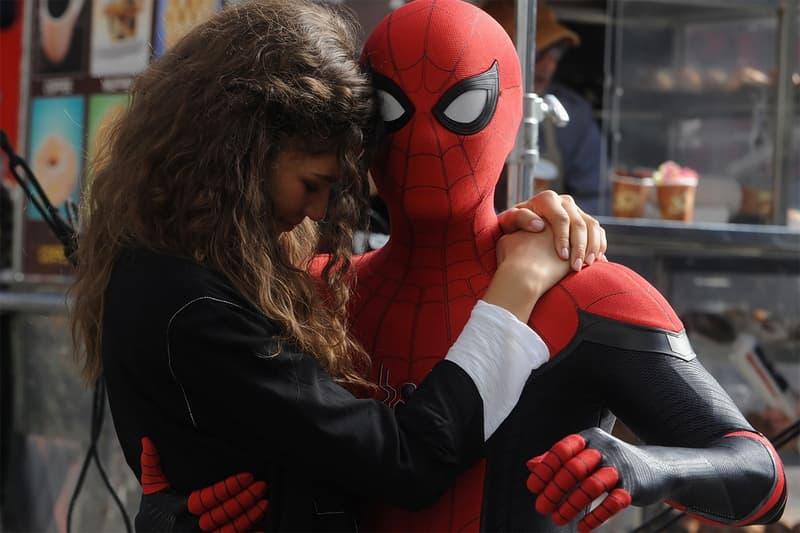spider man 3 movie zendaya tom holland jake batalon sneak peek title home wrecker phone slice info