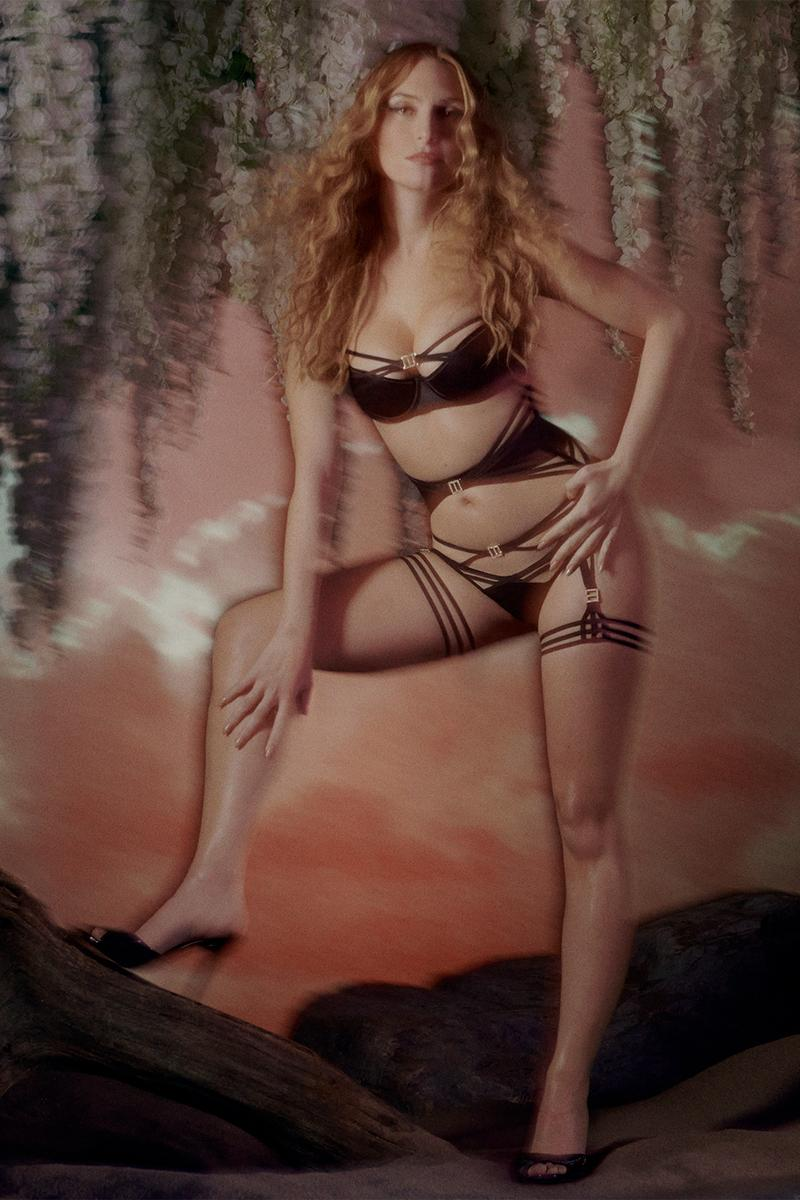agent provocateur utopia spring summer collection campaign lingerie bra underwear black stockings