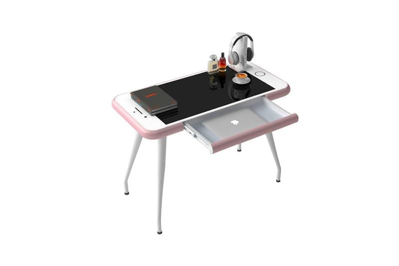 iPhone 6 Desk 10 x 10 Rose Gold Office Furniture