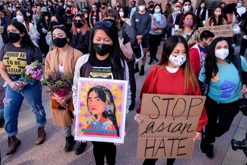 Anti-Asian Violence Demonstration Rally Los Angeles 2021