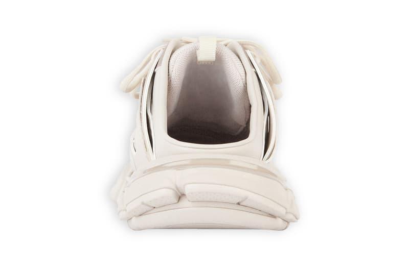 balenciaga track sneakers mules demna gvasalia shoes ivory cream back