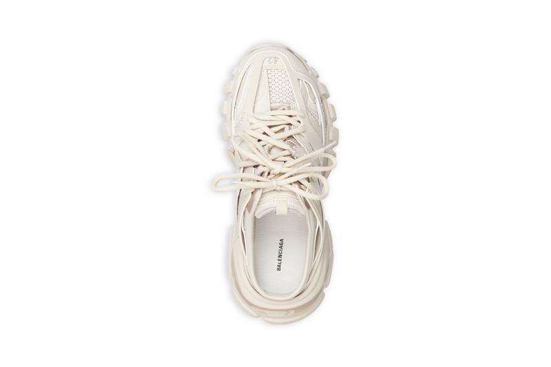 balenciaga track sneakers mules demna gvasalia shoes ivory cream top upper shoelaces