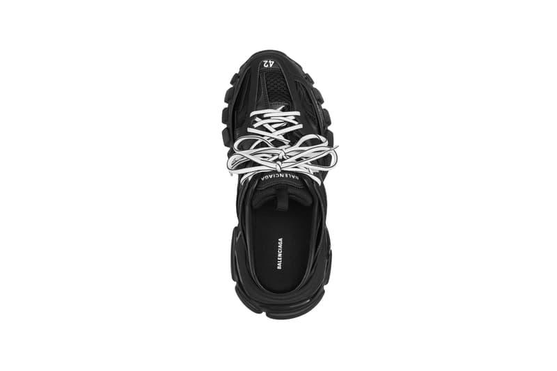 balenciaga track sneakers mules demna gvasalia shoes black top white shoelaces