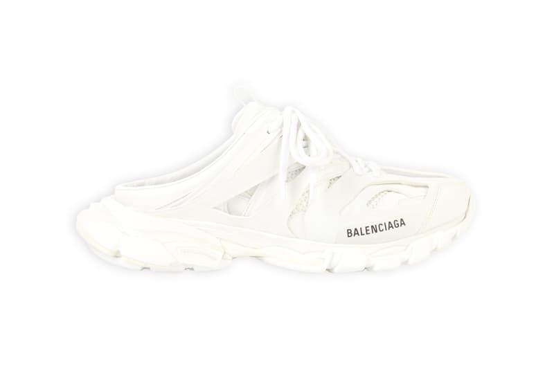 balenciaga track sneakers mules demna gvasalia shoes white