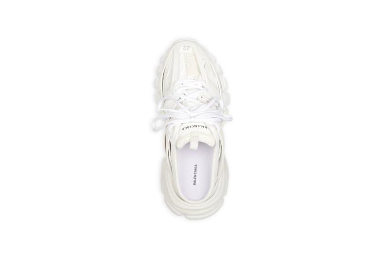 balenciaga track sneakers mules demna gvasalia shoes white top shoelaces
