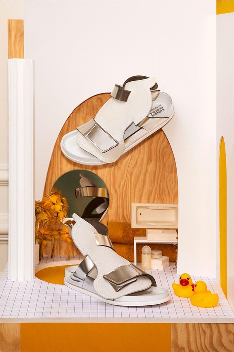 birkenstock central saint martins csm emerging designers collaboration alecsander rothschild details sandals