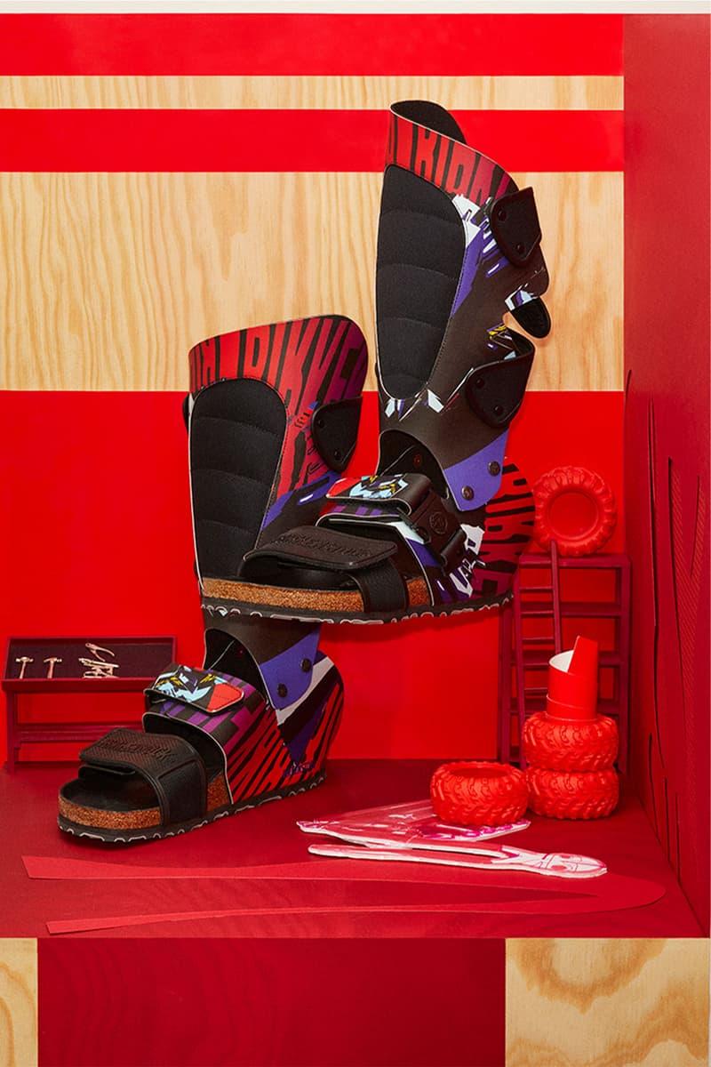 birkenstock central saint martins csm emerging designers collaboration sandals alex wolfe