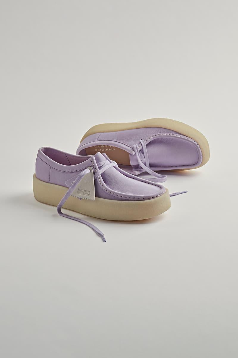 Clarks Originals Wallabee Cup Shoe Lilac Purple