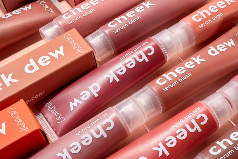 colourpop cosmetics cheek dew blush serum liquid makeup pink orange brown