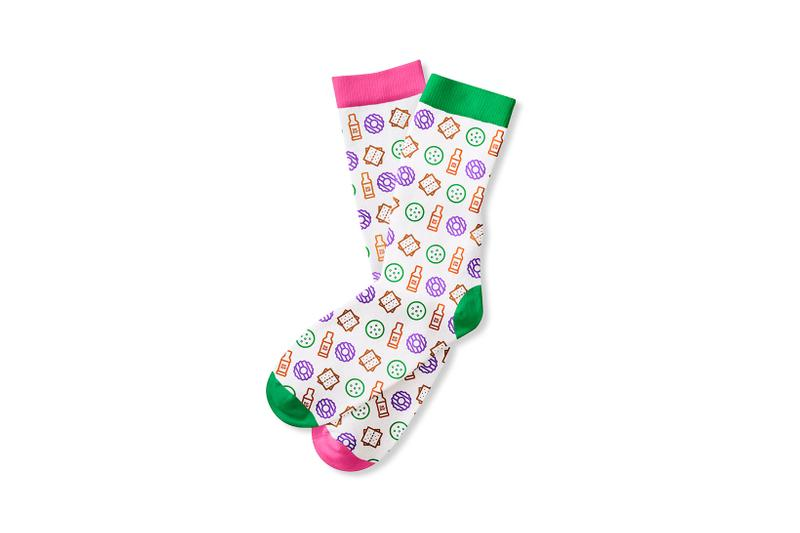 dunkin girl scout cookie collaboration merch chill collection socks