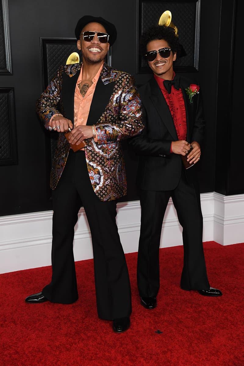grammy awards 63rd best dressed celebrities red carpet looks anderson paak bruno mars