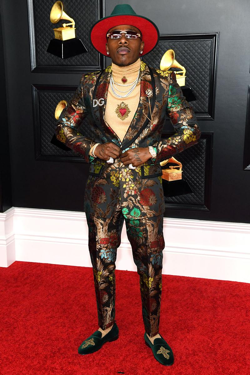 grammy awards 63rd best dressed celebrities red carpet looks dababy