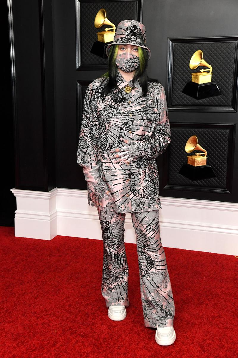 grammy awards 63rd best dressed celebrities red carpet looks billie eilish