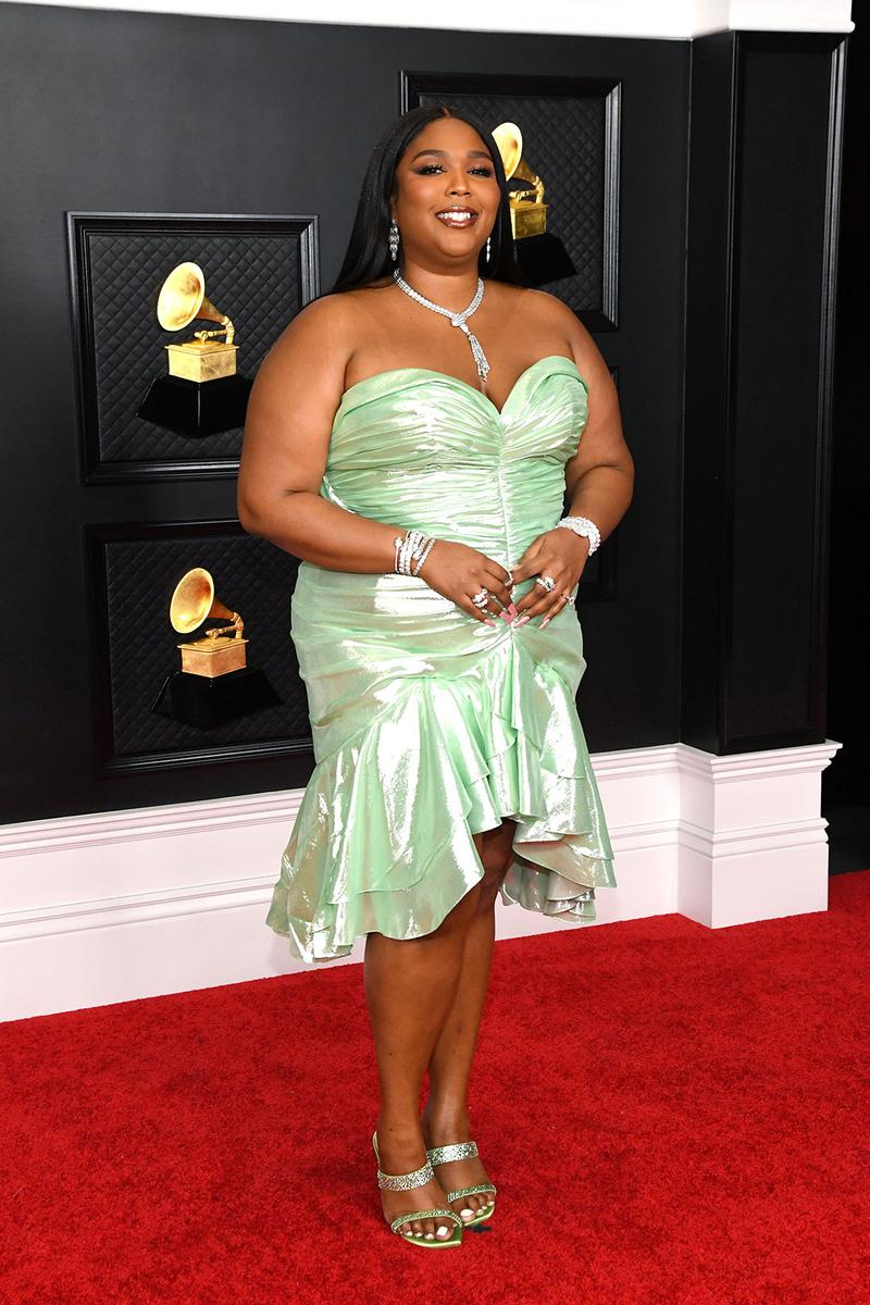 grammy awards 63rd best dressed celebrities red carpet looks lizzo