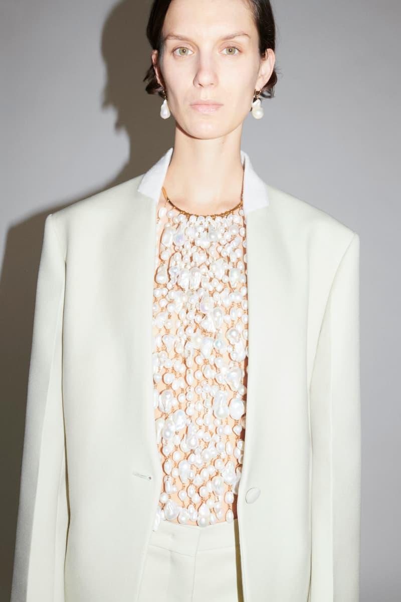 jil sander fall winter womens collection paris fashion week pfw blouse jacket earrings