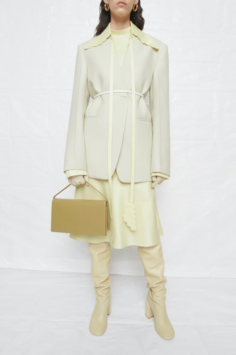 jil sander fall winter womens collection paris fashion week pfw jacket skirt boots handbag