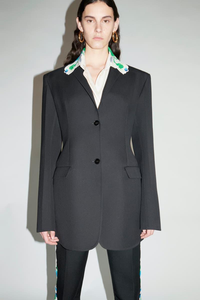 jil sander fall winter womens collection paris fashion week pfw outerwear jacket blazer