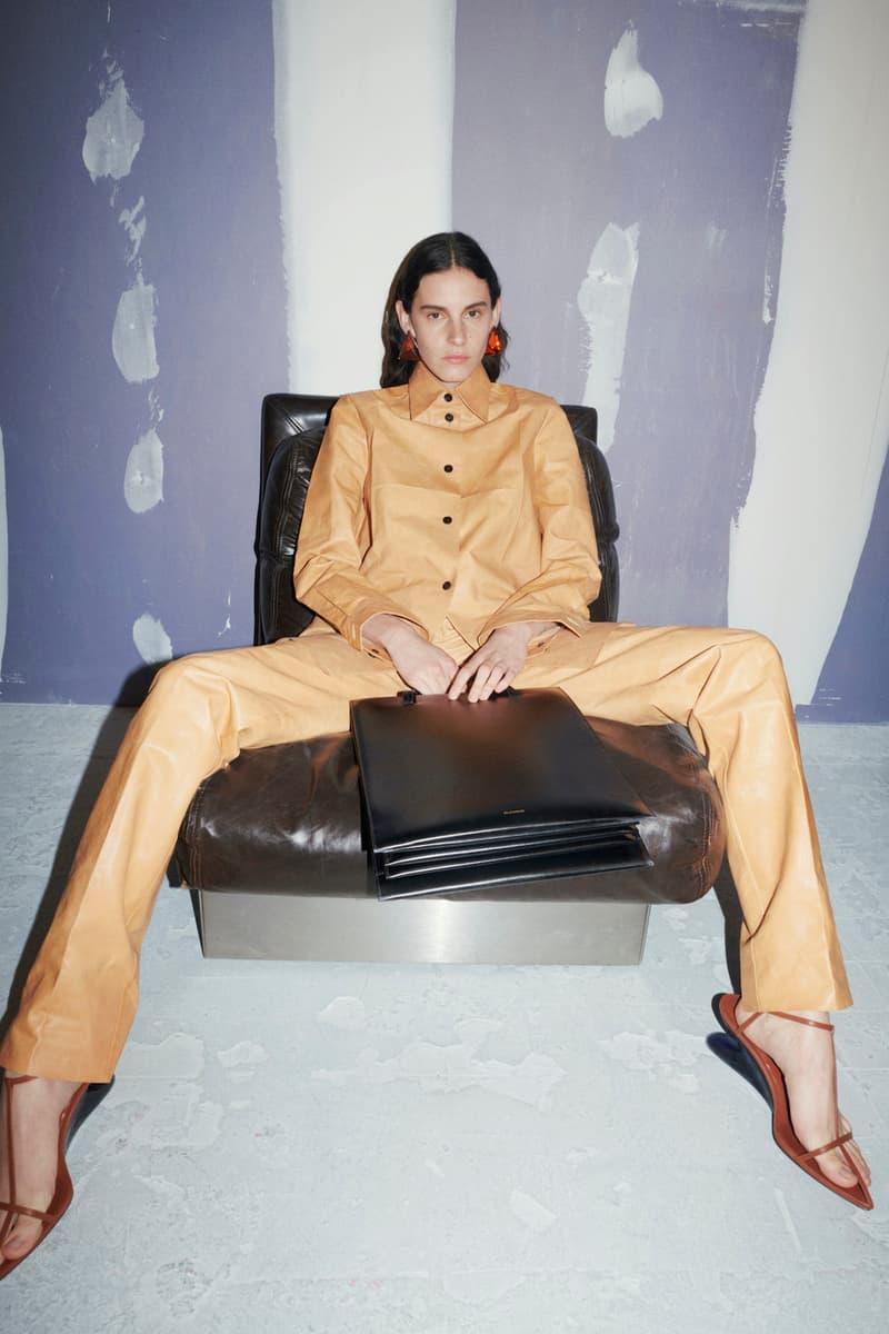 jil sander fall winter womens collection paris fashion week pfw outerwear jacket pants handbag heels
