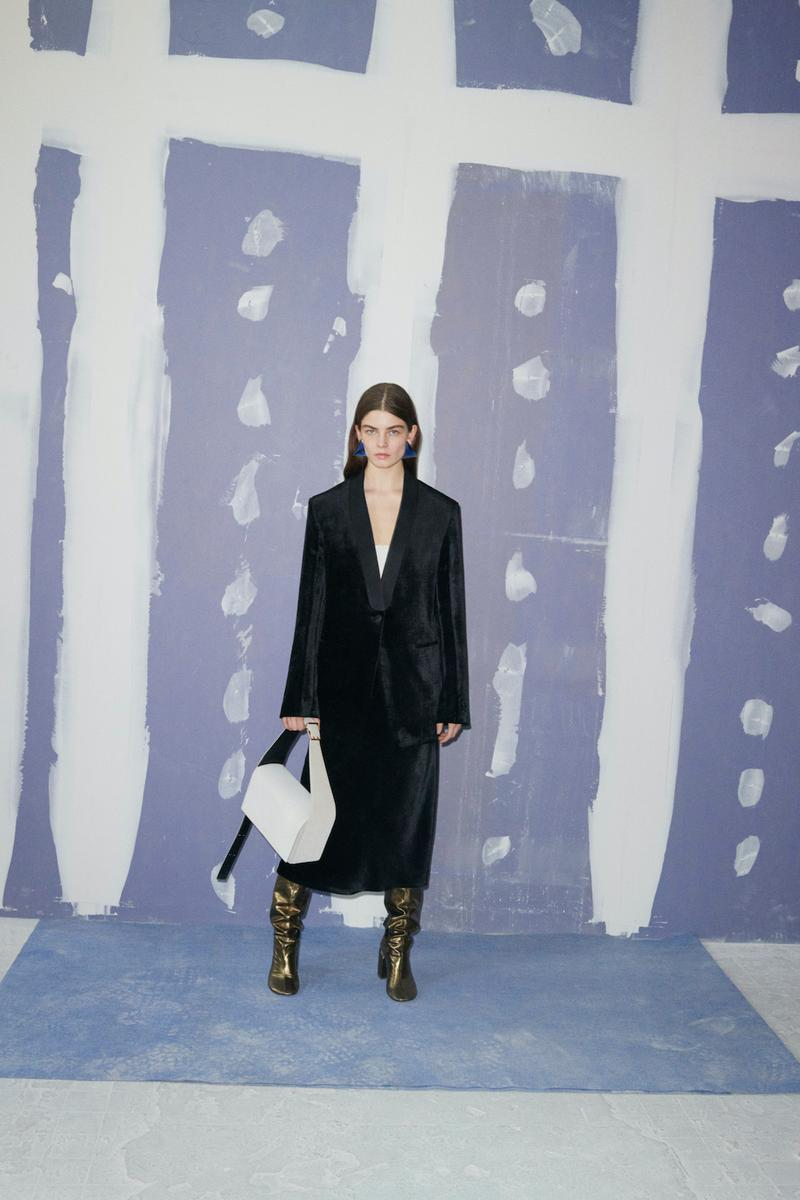 jil sander fall winter womens collection paris fashion week pfw outerwear jacet skirt handbags boots