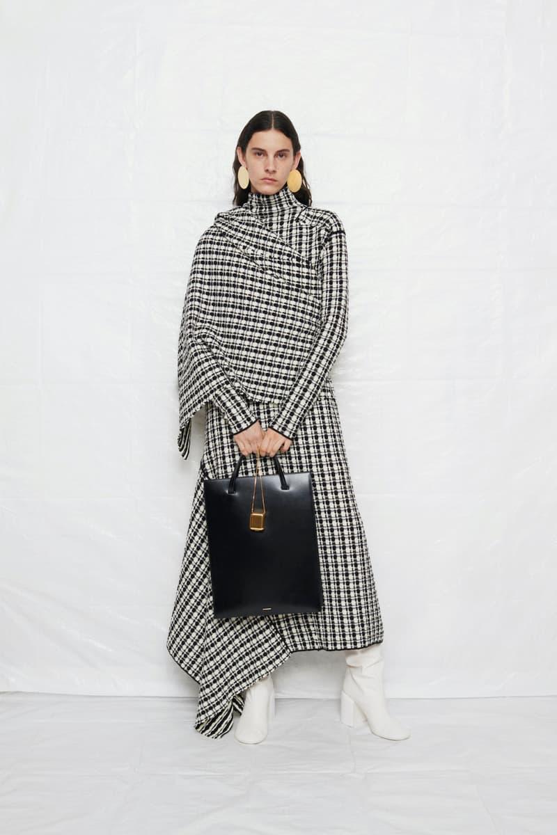 jil sander fall winter womens collection paris fashion week pfw dress handbag