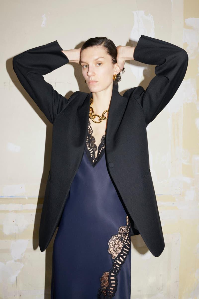 jil sander fall winter womens collection paris fashion week pfw outerwear jacket dress