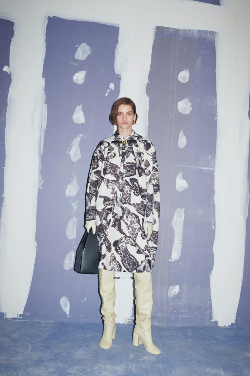 jil sander fall winter womens collection paris fashion week pfw boots handbag skirt jacket