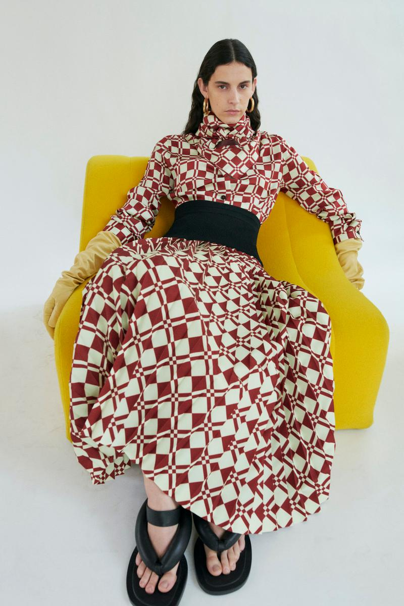 jil sander fall winter womens collection paris fashion week pfw dress sandals