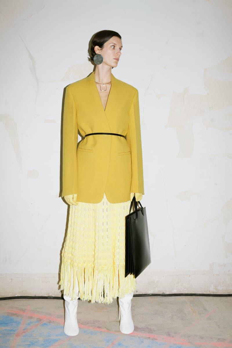 jil sander fall winter womens collection paris fashion week pfw outerwear jacket skirt bag boots