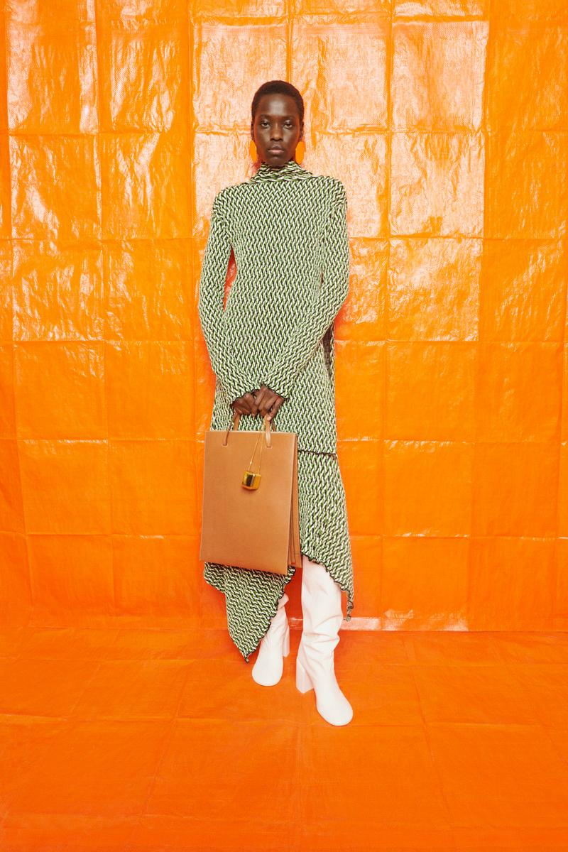 jil sander fall winter womens collection paris fashion week pfw dress handbag boots