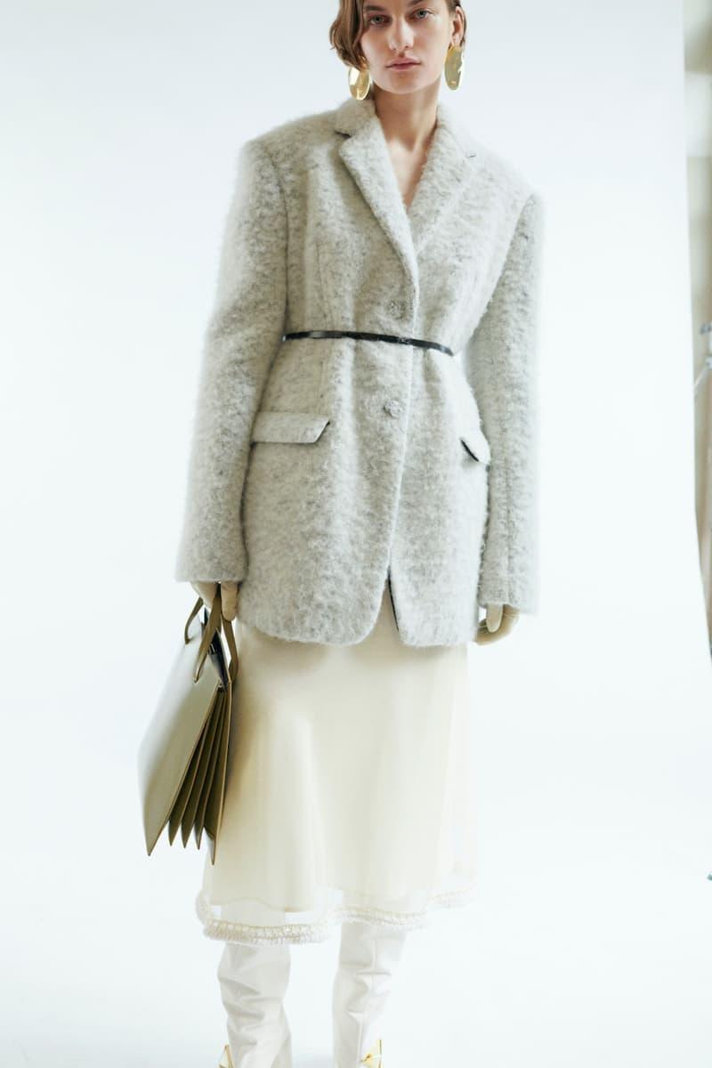 jil sander fall winter womens collection paris fashion week pfw outerwear jackets skirt handbag
