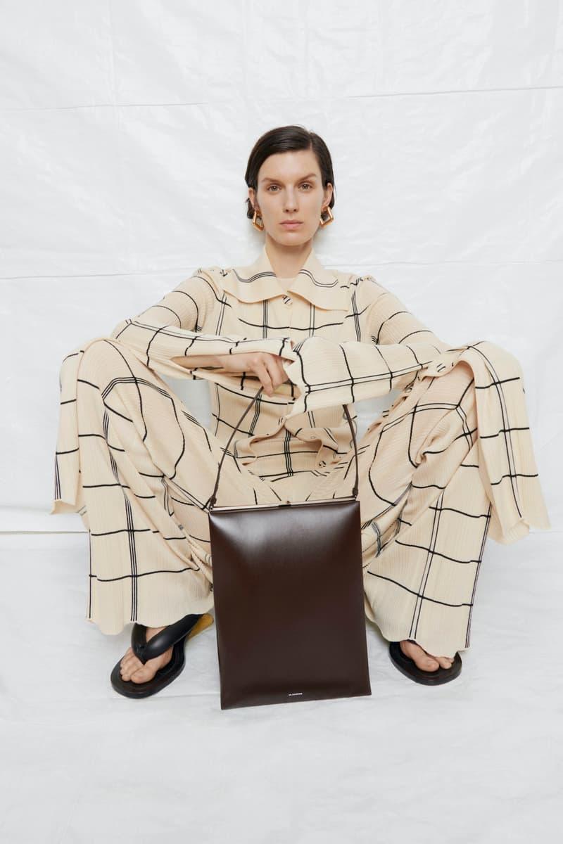 jil sander fall winter womens collection paris fashion week pfw pants jacket sandals handbag