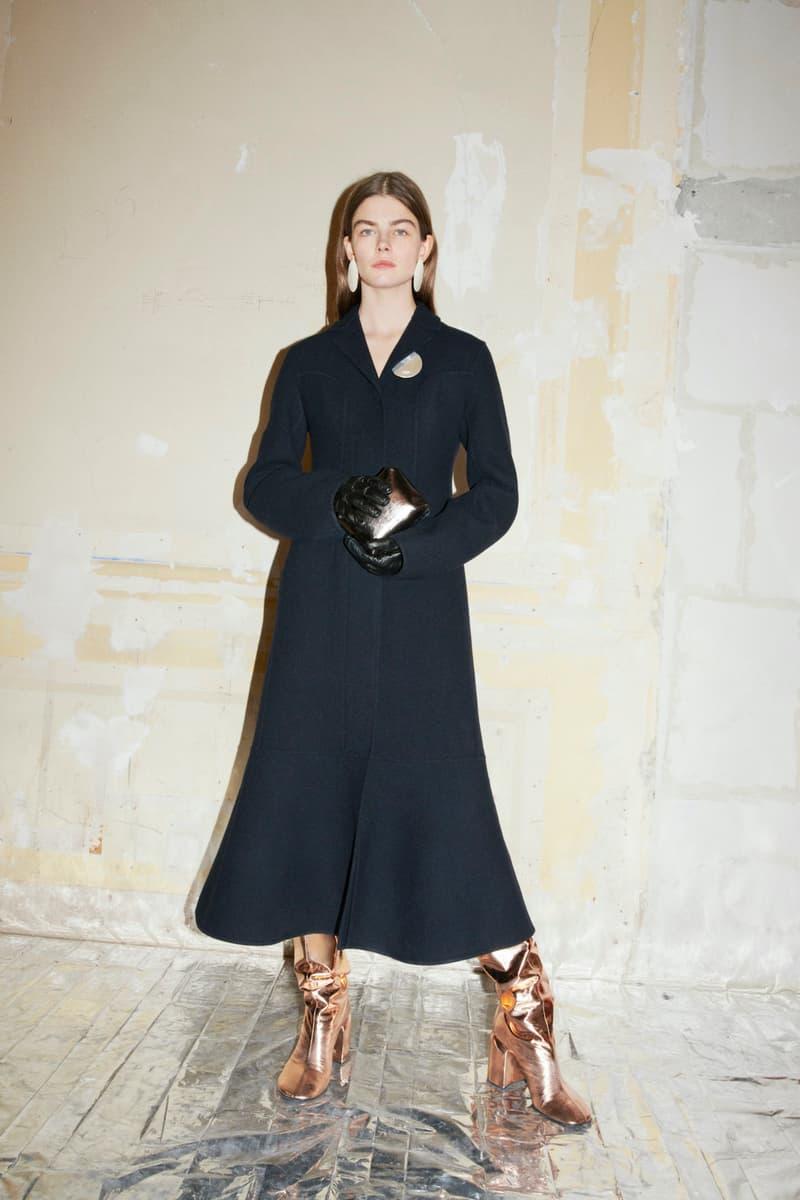 jil sander fall winter womens collection paris fashion week pfw jacket skirt boots