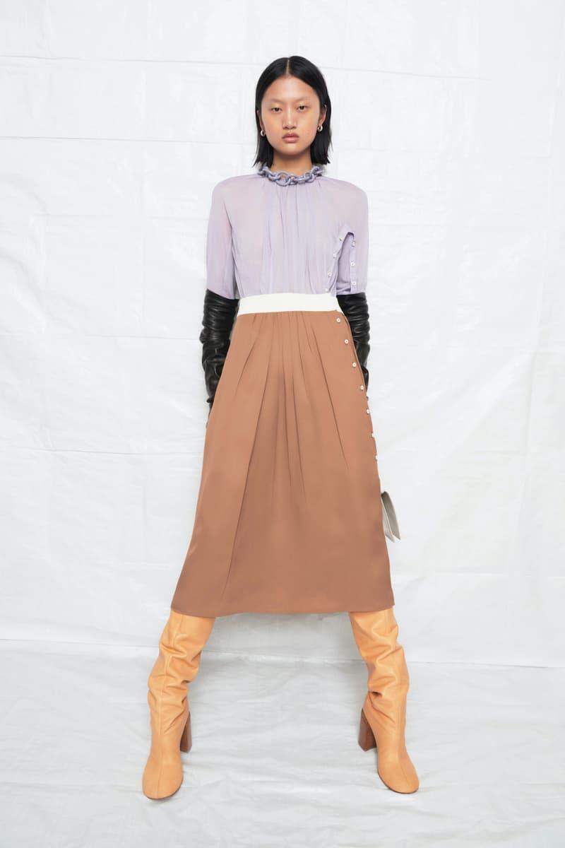 jil sander fall winter womens collection paris fashion week pfw top skirt boots