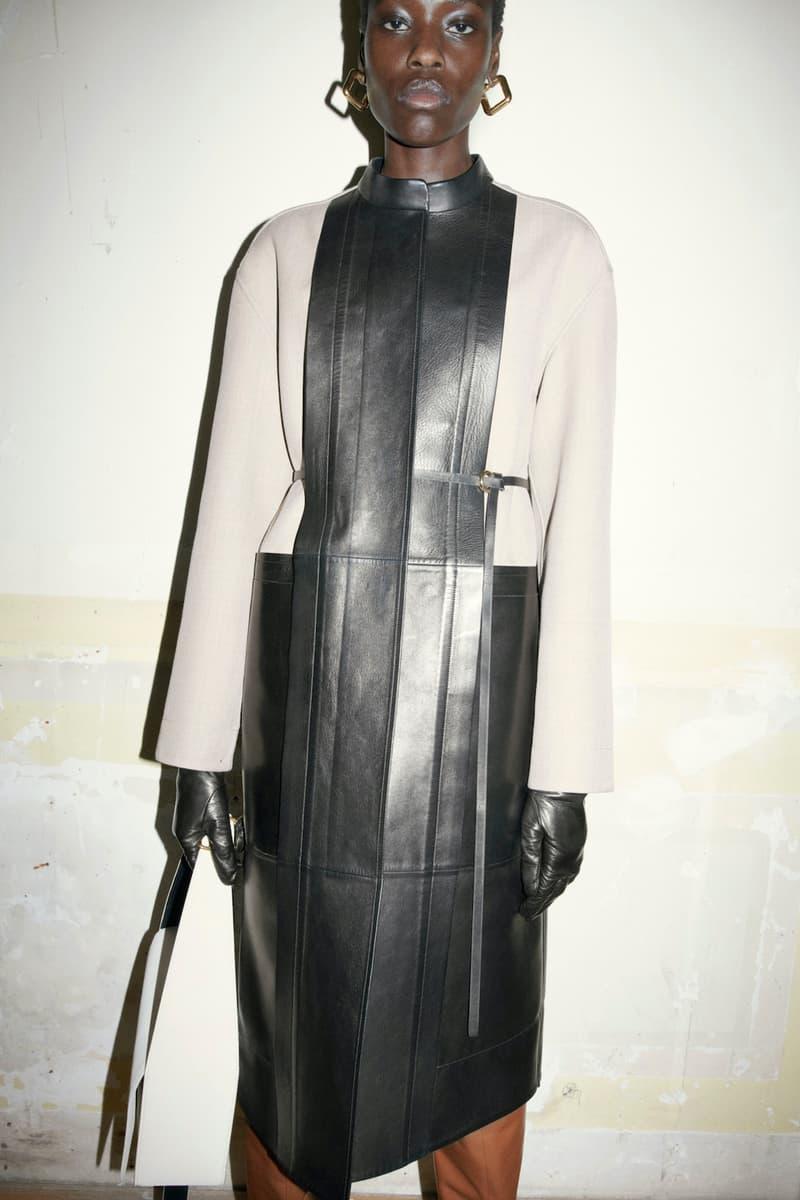 jil sander fall winter womens collection paris fashion week pfw jacket outerwear skirt handbag