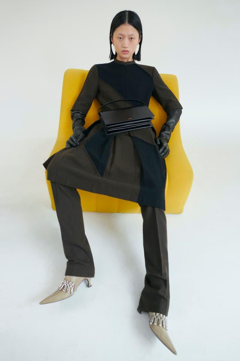 jil sander fall winter womens collection paris fashion week pfw skirt top pants heels