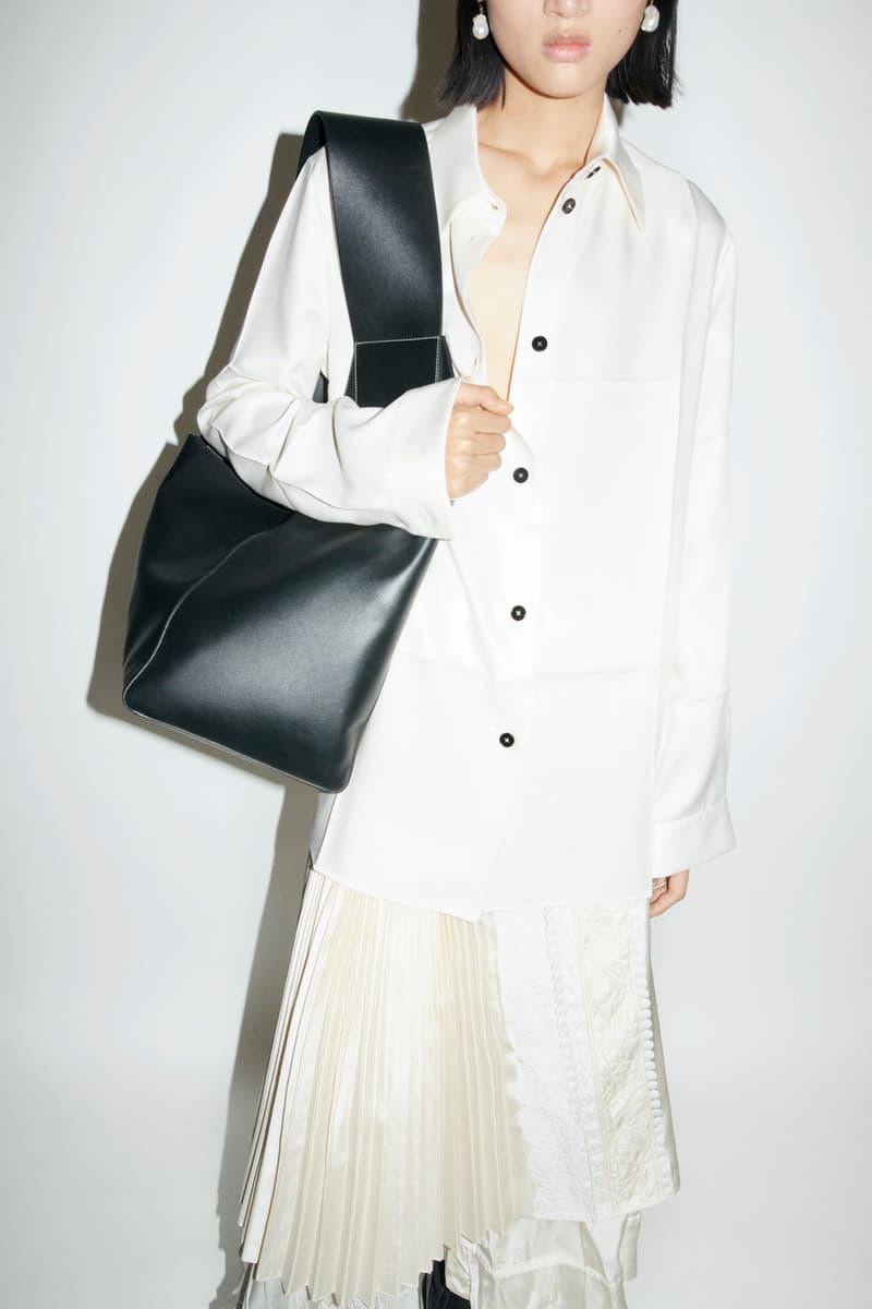 jil sander fall winter womens collection paris fashion week pfw handbag shirt skirt