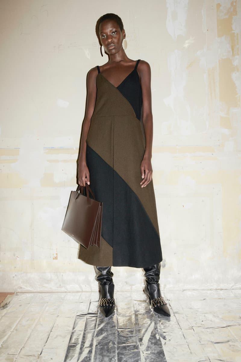 jil sander fall winter womens collection paris fashion week pfw dress boots handbag