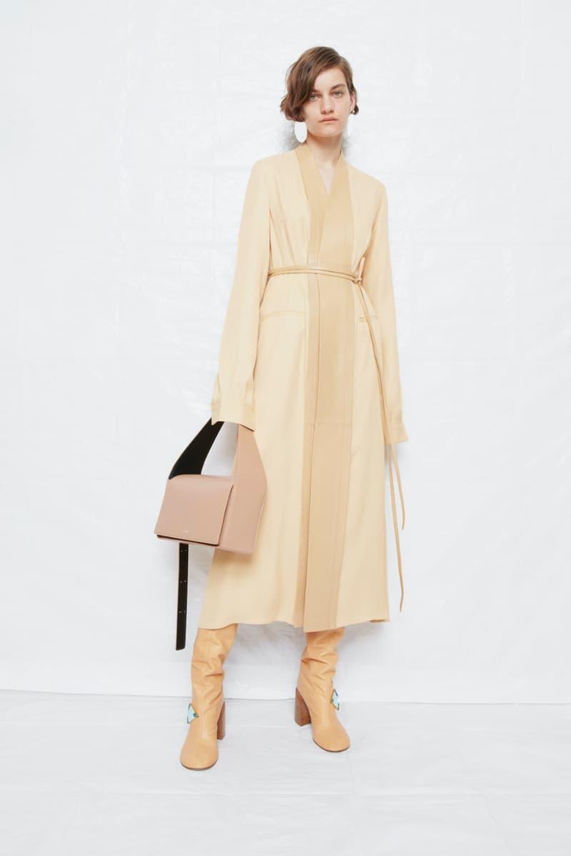 jil sander fall winter womens collection paris fashion week pfw skirt handbag boots top