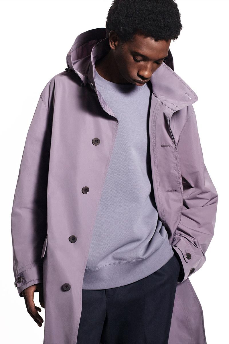 jil sander uniqlo plus j spring summer ss21 collaboration collection purple rain jacket coat