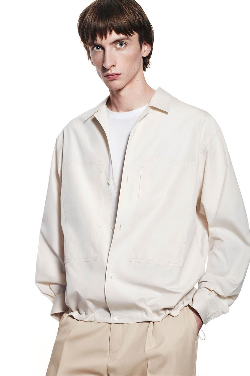jil sander uniqlo plus j spring summer ss21 collaboration collection white beige ivory jacket